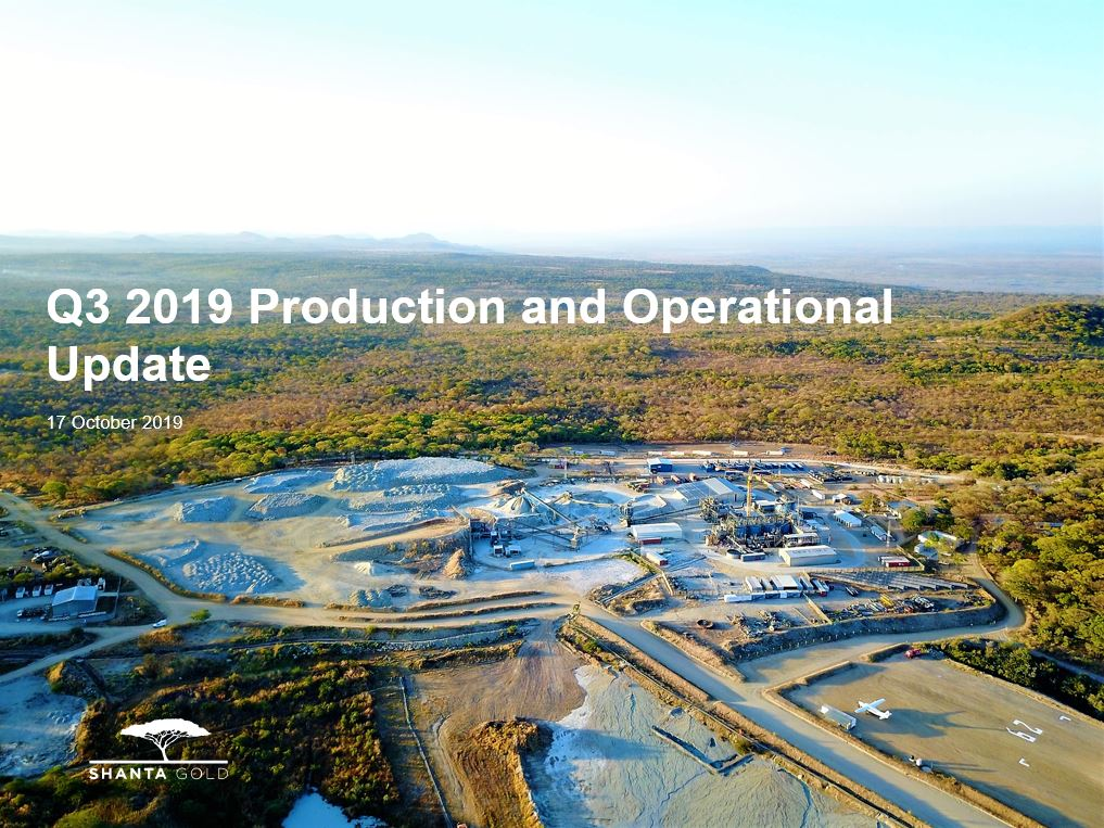 Q4 2019 Production and Operational Update Presentation