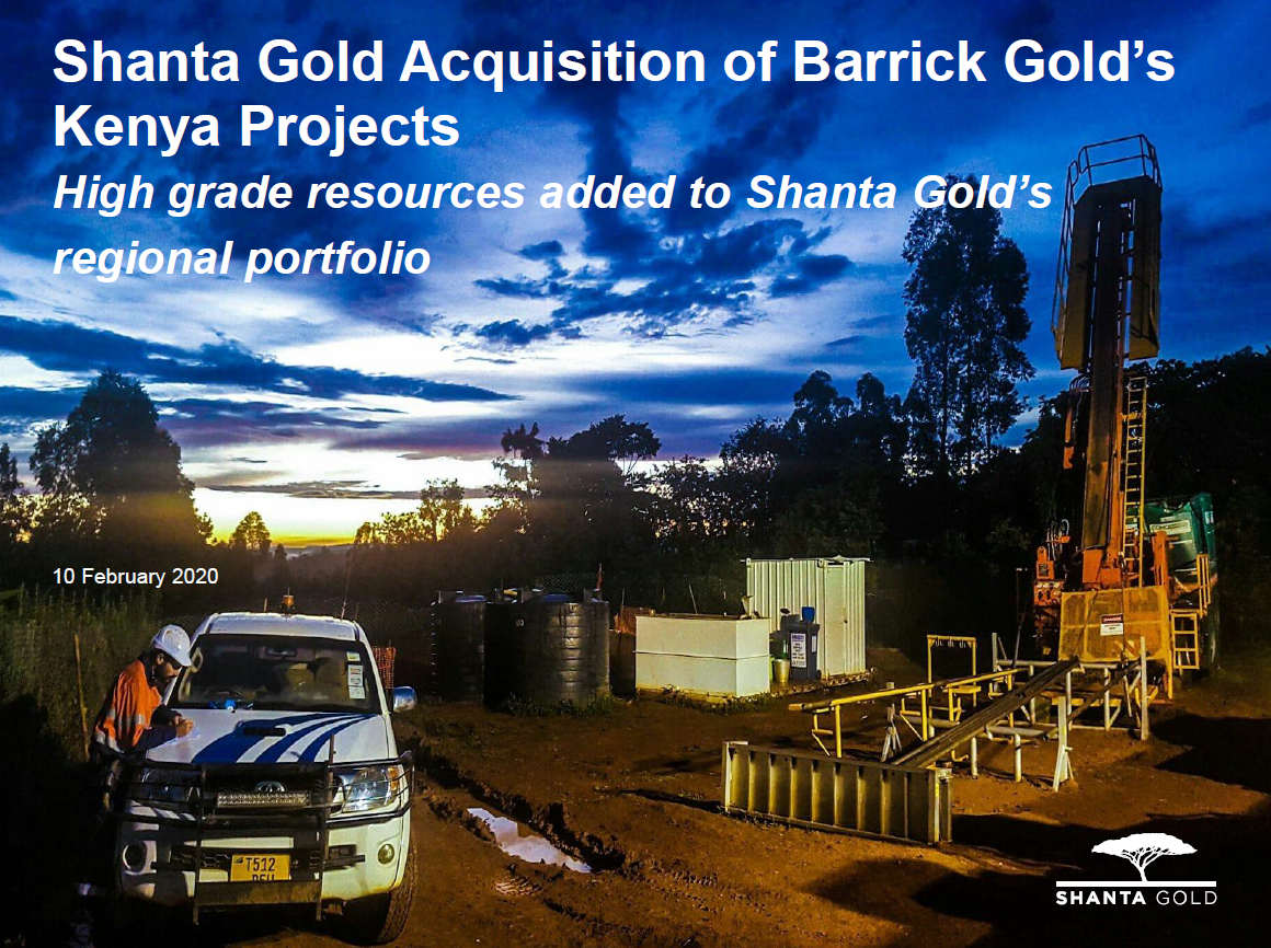 Shanta Gold Acquisition of Barrick Gold's Kenya Projects - Presentation